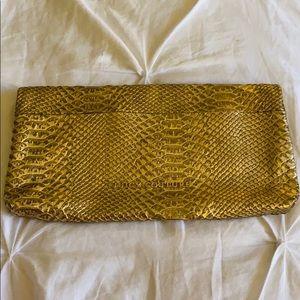 Juicy Couture Alligator Gold Clutch